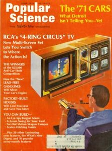 1970 Popular Science Magazine: 1971 Cars/RCA's 4 Ring Circus TV/Lead Free Gas