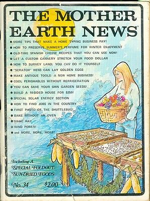 1975 Mother Earth News Magazine  34  Home Typing Business Preserve Summer Smell