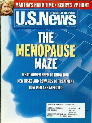 2004 U S  News   World Report Magazine  The Menopause Maze Martha Stewart Prison