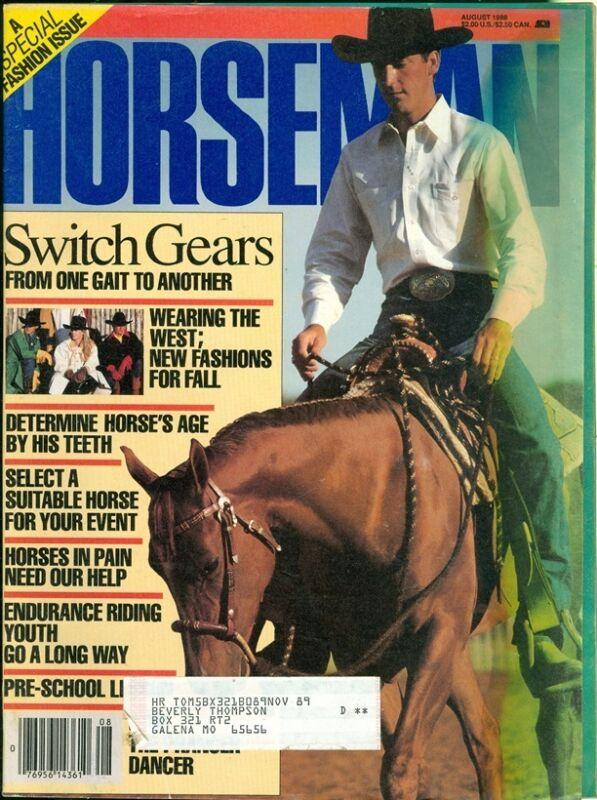 1988 Horseman Magazine: Switch Gears/West Fashions/Horse Age by Teeth/Pre-School