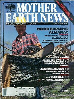 1987 Mother Earth News Magazine  107  Wood Burning Almanac Rid Home Of Radon