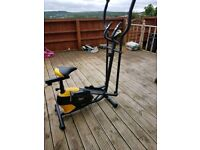 everlast cross trainer with adjustable tension and digital display for distance, pulse etc. good con