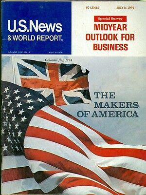 1974 U S  News   World Report Magazine  The Makers Of America Midyear Business