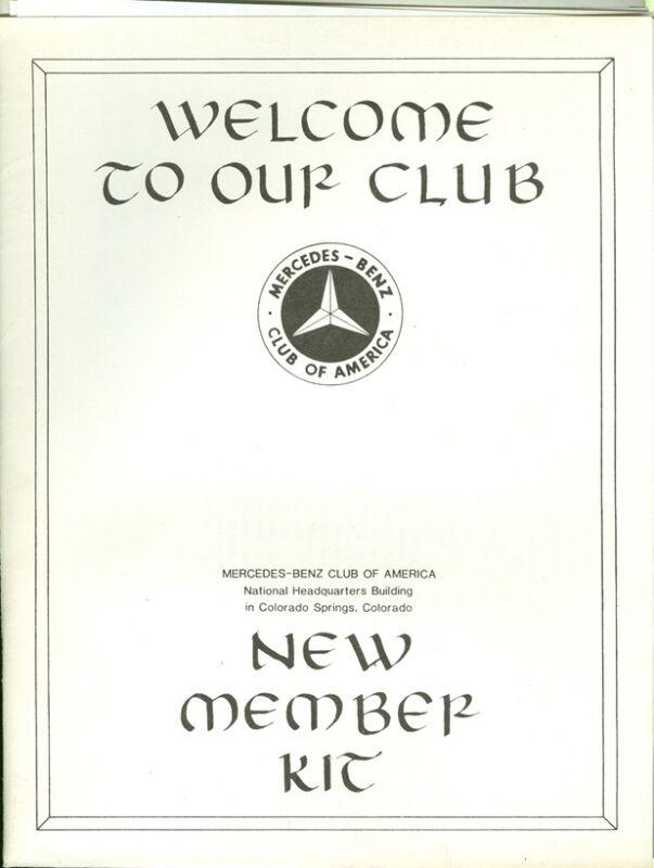 1988 Mercedes-Benz Club of America New Member Kit