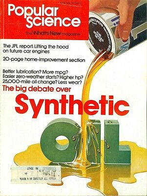 1976 Popular Science Magazine  Synthetic Oil Home Improvement Section