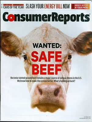 2015 Consumer Reports Magazine  Wanted  Safe Beef Bacteria Problem Energy Bills
