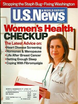 2007 U S  News   World Report Magazine  Womens Health Checkup Heart Disease Bre