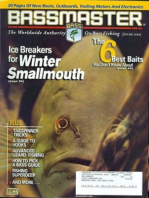 2004 Bassmaster Magazine  Winter Smallmouth Tailspinner Tricks Lizard Fishing