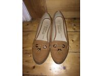 Brown loafers George size 8
