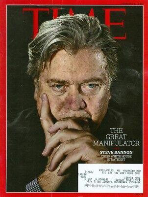 2017 Time Magazine  Steve Bannon The Great Manipulator Chief White House Strateg