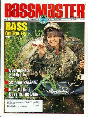 1996 Bassmaster Magazine  Fly Fishing For Bass Overlooked Hot Spots Spinner
