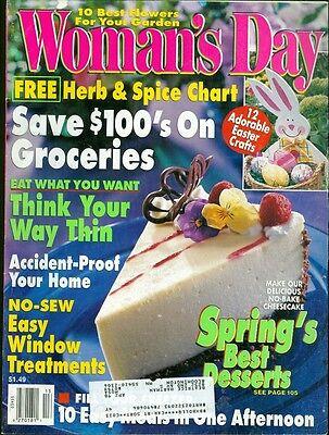 1998 Woman's Day Magazine: No-Bake Cheescake Spring's Best Desserts/Best