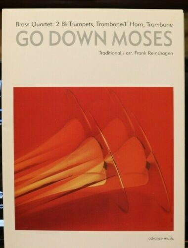 Brass Quartet: Go Down Moses arr Frank Reinshagen New publisher price $21.95