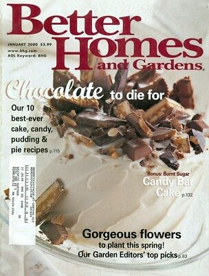 2000 Better Homes & Gardens Magazine: Chocolate to Die For/Candy Bar