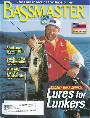 2002 Bassmaster Magazine  Trophy Bass Series Lures For Lunkers