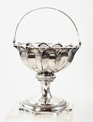 Biedermeier silver basket, dated 1830, marked Vienna, Austria [11673]