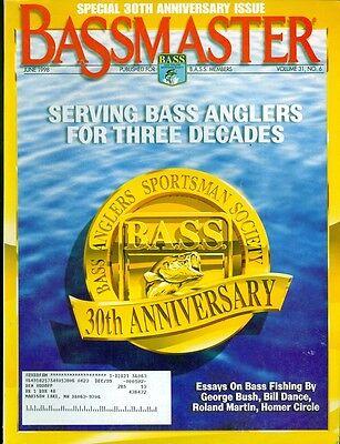 1998 Bassmaster Magazine  30Th Anniversary Bass Anglers Sportsman Society