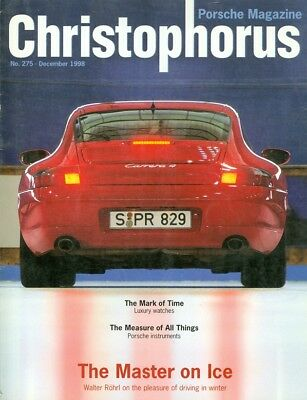 1998 Christophorus Porsche Magazine: Luxury Watches/Instruments/Walter Rohrl for sale  Shipping to India
