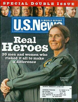 2001 U S  News   World Report Magazine  Real Heros Us Army Colonel Rhonda Cornum