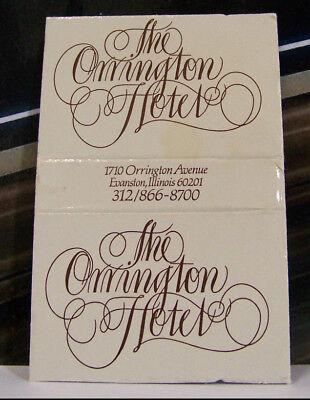 Rare Vintage Matchbook Cover H2 Evanston Illinois Orrington Hotel Avenue Font