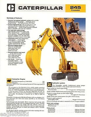 Equipment Brochure - Caterpillar - 245 - Excavator - 1978 Eb08