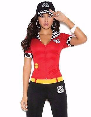 Race Car Driver Costume Large Women Sexy Halloween Racecar Pit Crew Pants NASCAR