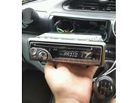 jvc car stereo cd player with aux port