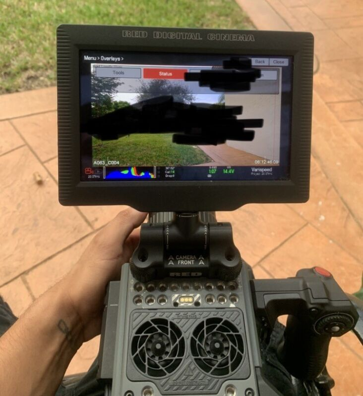 """RED DSMC2 7"""" TOUCH LCD Monitor for RED SCARLET-W, MONSTRO, RAVEN, WEAPON"""