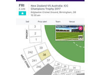 Icc champions trophy 6 gold tickets
