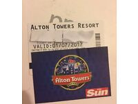 Alton towers tickets 20£ Ono