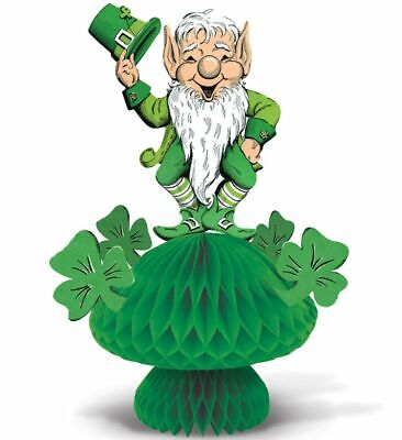 St Patrick Decorations (Vintage Leprechaun Shamrocks Centerpiece 12.75