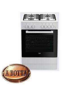 cucina a gas con 4 fuochi beko fsst62110dw bianco forno elettrico ... - Cucina A Gas Con Forno Elettrico Ventilato