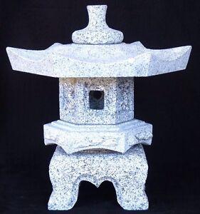 Bonsai Steinlaterne Rokkaku Yukimi 33 cm - Granit - Japangarten - Zen Garten