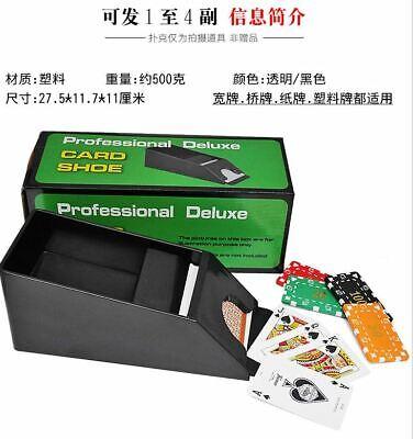 US-4Deck Trademark Poker Blackjack Dealing Shoe Card Casino Professional Dealer 4 Deck Dealing Shoe