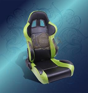 Black Green Racing Seats Ebay