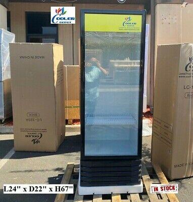 New Glass Door Refrigerator Cooler Beverage Merchandiser Nsf 24 X 22 X 67