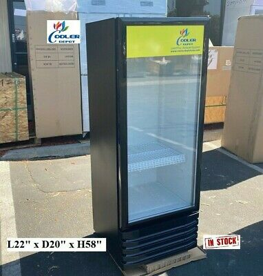 New Glass Door Refrigerator Cooler Beverage Merchandiser Nsf 22 X 20 X 58