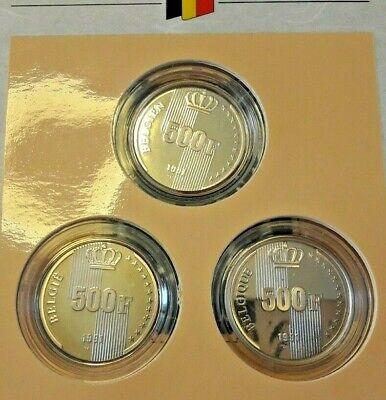 ==>> SET FDC 1991  3 X 500 Francs Frank Rare Zeldzaam Belgique Belgïe <<===