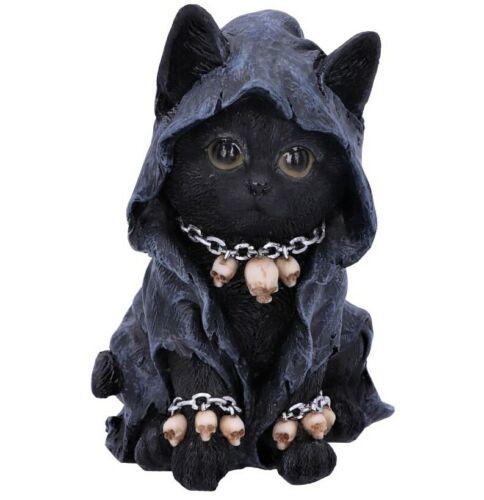 Reapers Feline Cloaked Grim Reaper Cat Figurine Statue Voodoo Ornament NEW IN
