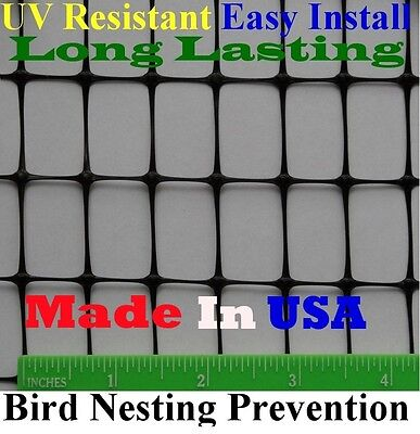 "Bird Block Netting Fence 4' X 330' UV (.7"" x 1"" Mesh) - Poultry Aviary Quail"