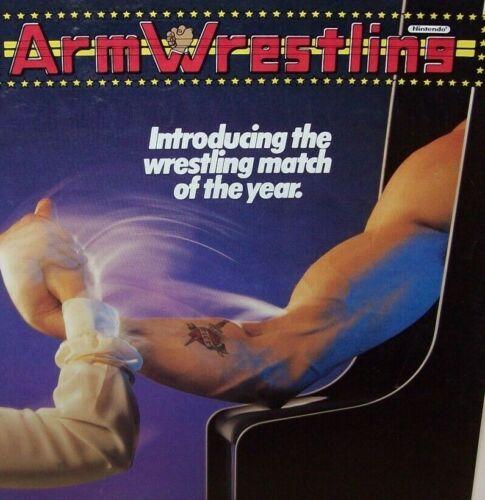 Arm Wrestling Arcade FLYER Original Nintendo Video Game Art Sheet Retro Sports