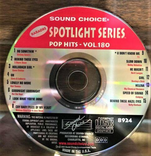 SOUND CHOICE KARAOKE SPOTLIGHT CD+G - 8924- POP HITS - VOL 180 - CDG