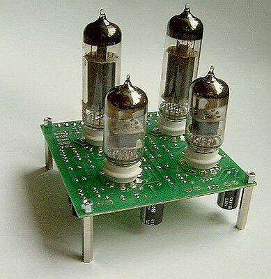 1x Leer PCB Stereo Endstufe EL84SE +ECC83 oder 6N14P + 6N2P Platine 10x10cm leer