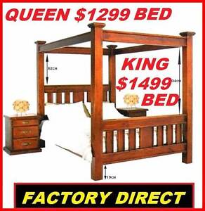 NEW CANOPY BED QUEEN, KING CANOPY FOUR POSTER $1299 Or $15 P/W Ipswich Region Preview