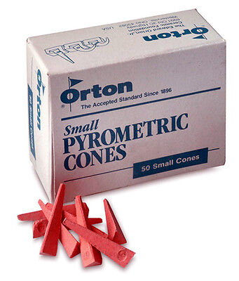 Orton Cone 6 Small Pyrometric Cones For Ceramic Kilns - Box of 50 Cones