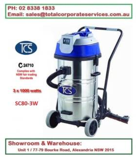 Commercial 80L Wet & Dry Vac Cleaner with Floor Squeegee