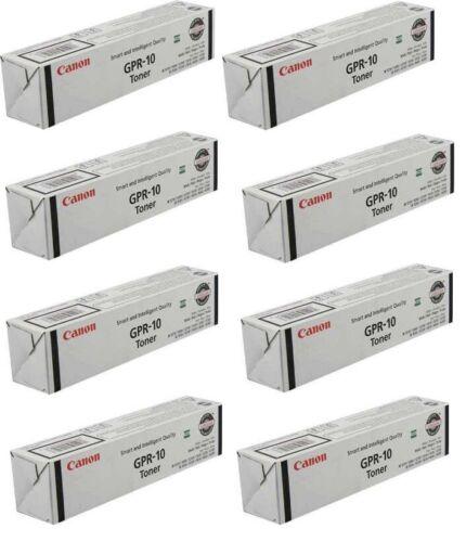 8 New Genuine Original OEM Canon GPR-10 Black Toner Cartridges GPR10