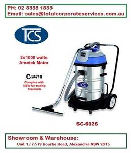 2000W 60Lt Vacuum Cleaner Wet and Dry Luxury Base Ametek Motors Alexandria Inner Sydney Preview