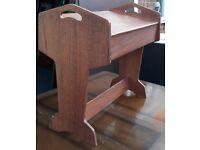 Unusual Vintage Hobby Or Craft Floor Desk or Work Table