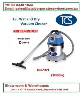 SC-151 Commercial 15L Wet and Dry Vac Clenaer 1000w Ametek Motor